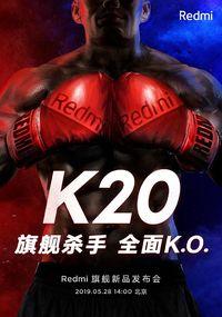 Poster pengumuman tanggal peluncuran Redmi K20.
