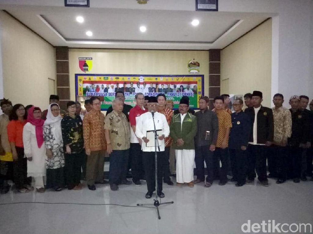 Tokoh Lintas Agama dan Etnis Jombang Serukan Tak Ikut Aksi 22 Mei