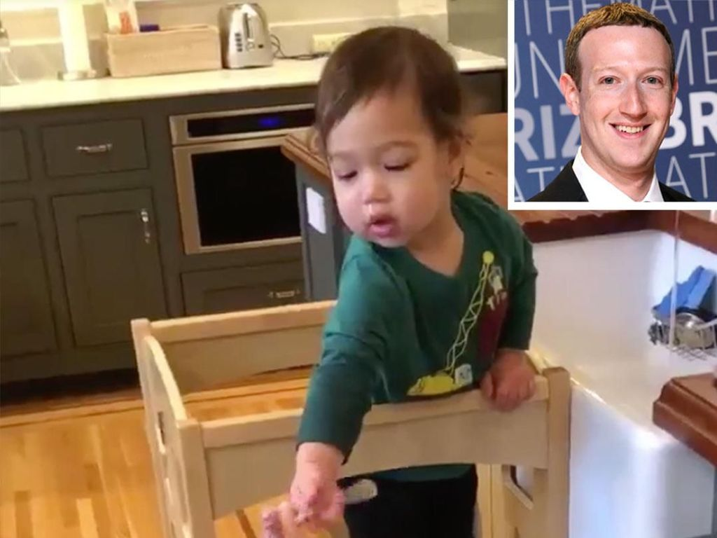 Mark Zuckerberg Bangga Pamerkan Anaknya yang Masih 1,5 Tahun Cuci Piring