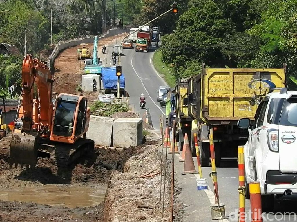 Tanjakan Jambu Semarang Bebas Material dan Alat Berat Selama Musim Mudik