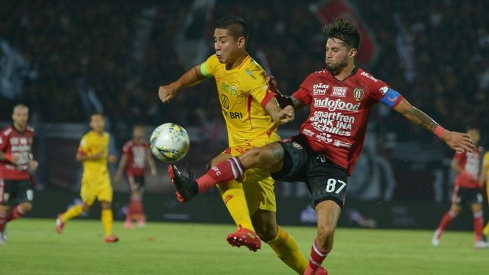 Bali United menang 1-0 atas Bhayangkara FC. (Foto: Nyoman Budhiana/ANTARA FOTO)