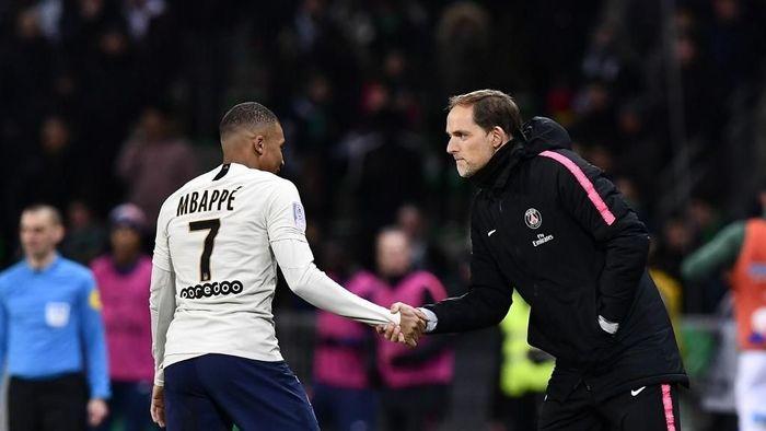 Kylian Mbappe marah pada pelatih PSG Thomas Tuchel? (Foto: Jeff Pachoud / AFP)