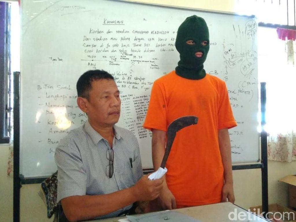 Bawa Sabit, Remaja di Sleman Ngamuk dan Rusak Motor di Jalanan