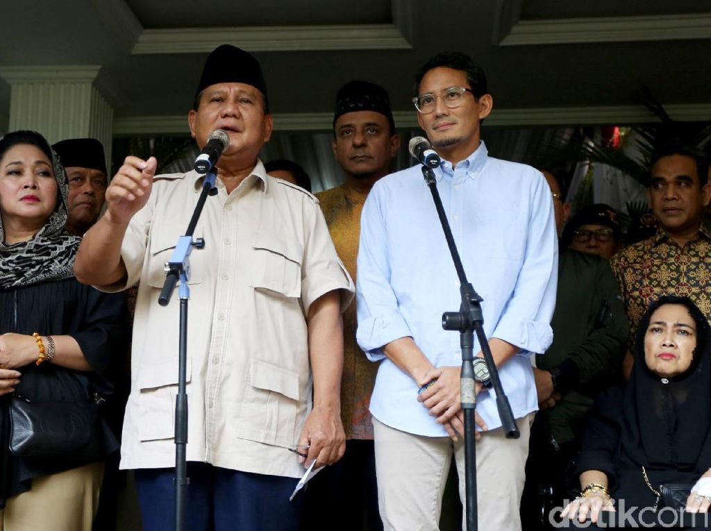 Prabowo-Sandi Tak akan Hadiri Sidang Perdana Gugatan Pilpres di MK
