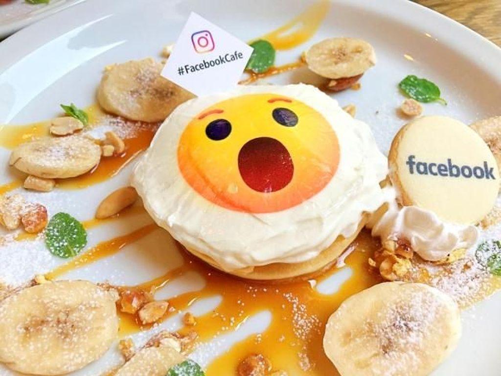 Gemasnya Cicip Menu Pancake Emoji di Kafe Resmi Milik Facebook