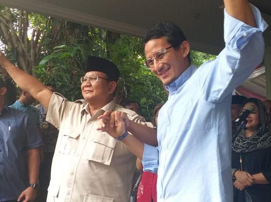 Prabowo Tolak Hasil Pilpres 2019