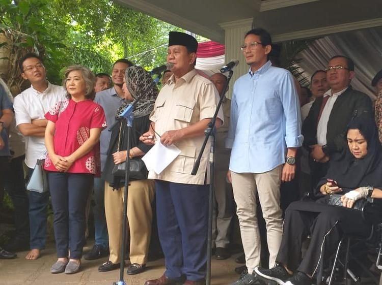 Prabowo: Pengumuman KPU Senyap-senyap di Saat Orang Masih Tidur