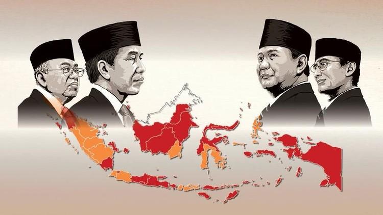 Infografis Peta Kemenangan Jokowi di Pilpres 2019