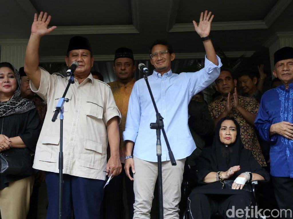 Klaim Kemenangan Prabowo-Sandi Berubah Lagi, BPN: Ada Temuan Baru
