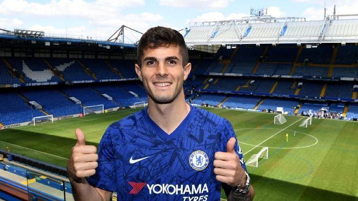 Pulisic diproyeksi menggantikan Eden Hazard di Chelsea. (Foto: Twitter)