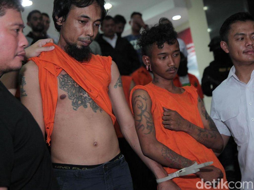 Ini Para Tersangka Rusuh 22 Mei, Ada yang Badannya Penuh Tato