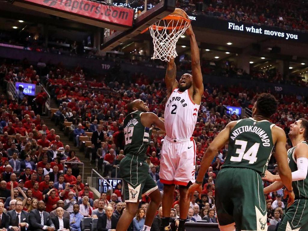 Hasil NBA: Raptors Hajar Bucks 120-102 untuk Samakan Kedudukan