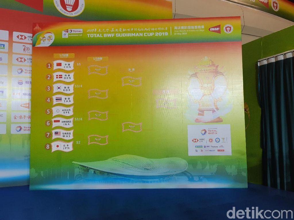 Piala Sudirman 2019: Indonesia Jumpa Taiwan di Perempatfinal
