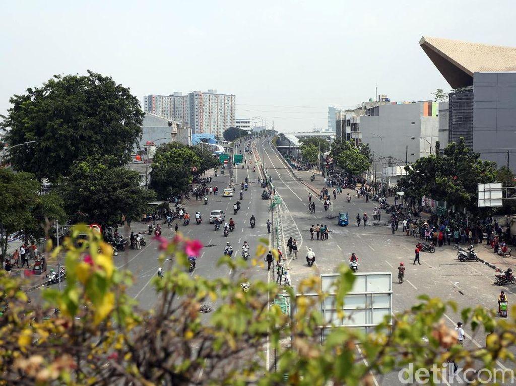 Suasana di Kawasan Jalan Jatibaru Mulai Kondusif