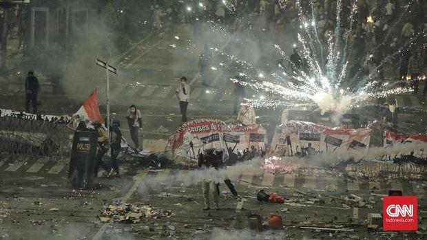 Bentrokan pada 21-22 Mei 2019 meluas dari Sarinah hingga Slipi, Jakarta Pusat