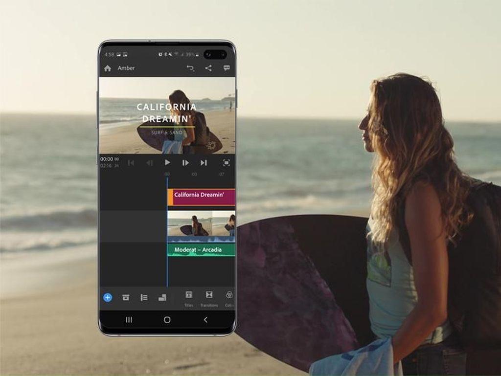 Adobe Premiere Rush Tersedia untuk Android