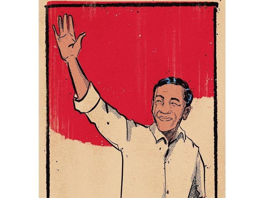 David Naif Bikin Ilustrasi 5 Tahun Lagi untuk Jokowi