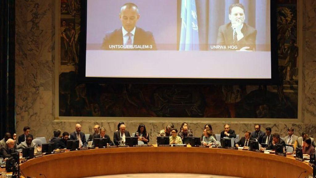 Menlu Retno Pimpin Pertemuan DK PBB Bahas Situasi di Timur Tengah