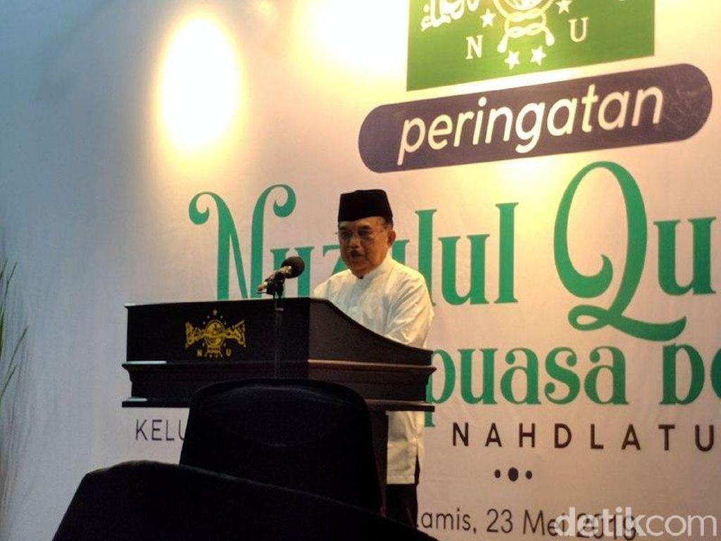 JK: Bangsa Indonesia Jangan Terpecah karena Masalah Politik