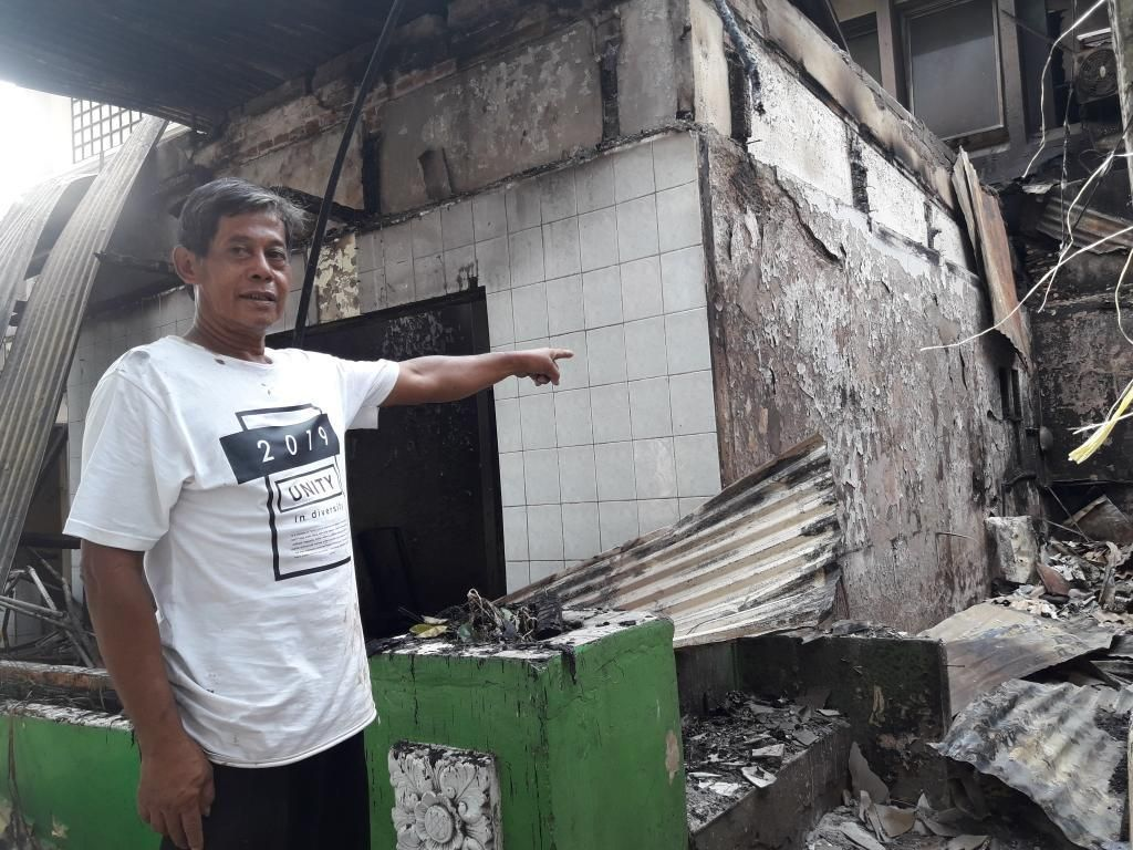 Rusuh di Bawaslu Semalam, Kios di Sabang Ikut Terbakar dan Dijarah