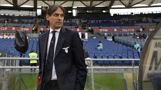 ROME, ITALY - MAY 15: Simone Inzaghi, head coach of SS Lazio, is seen before the TIM Cup Final match between Atalanta BC and SS Lazio at Stadio Olimpico on May 15, 2019 in Rome, Italy. (Photo by Marco Rosi/Getty Images)