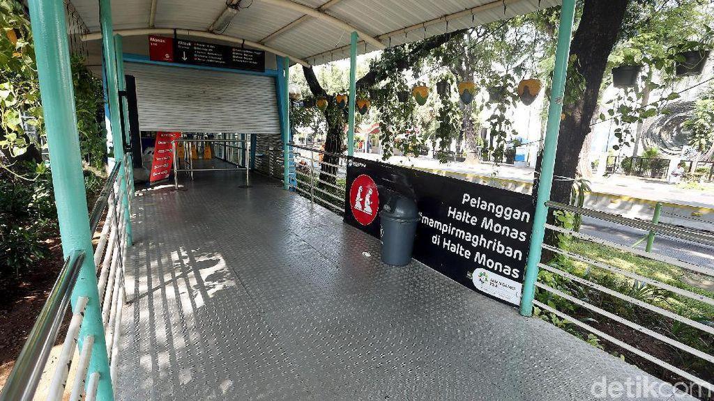 Halte TransJakarta Monas Masih Tutup Pasca Aksi 22 Mei