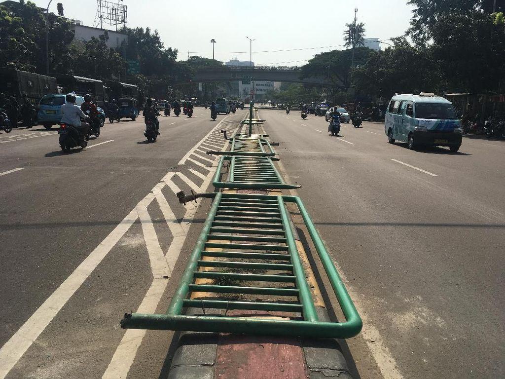 Penampakan Jalan Jatibaru Tanah Abang Normal dan Kondusif