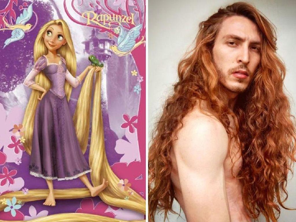 Bikin Takjub, Pria Ini Punya Rambut Panjang Seindah Rapunzel