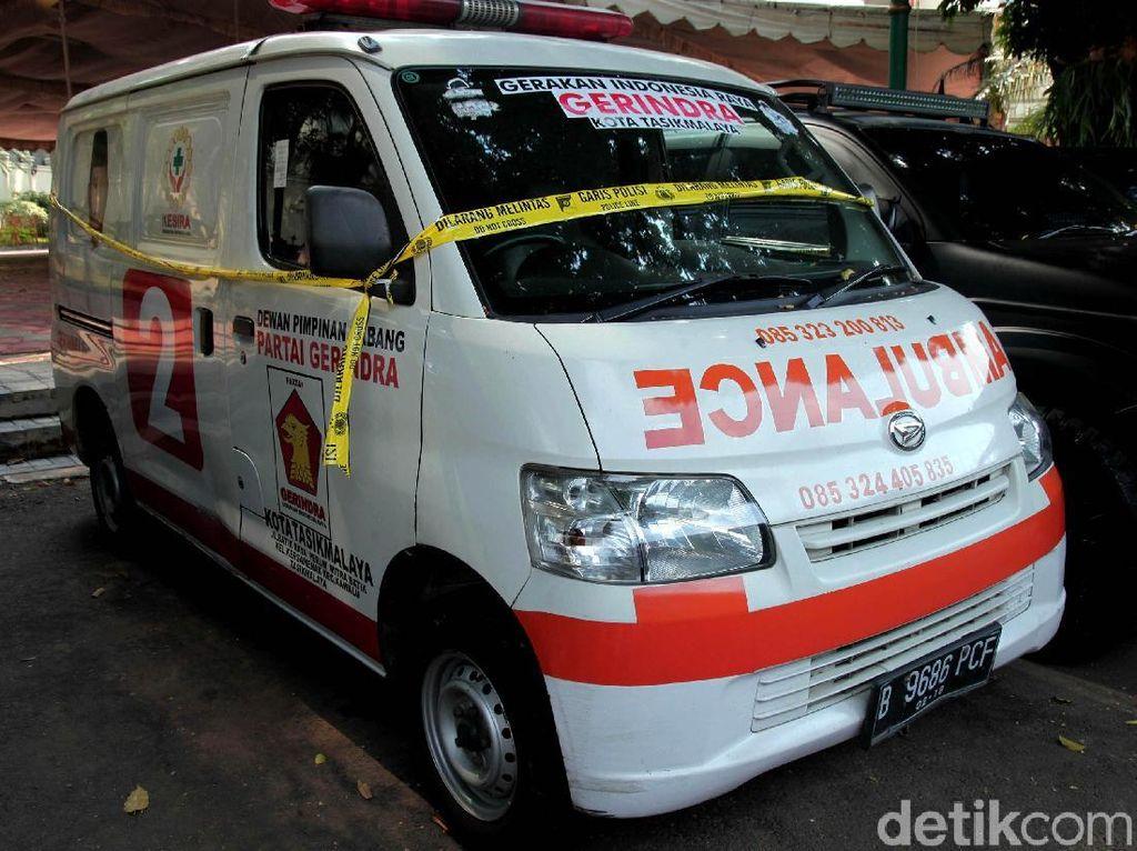 Sopir-Pengurus Gerindra Tasikmalaya Ngaku Tak Tahu Asal Batu di Ambulans