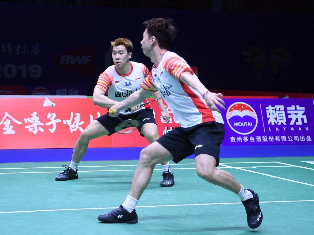 Kevin/Marcus Menang, Indonesia Memimpin 1-0 atas Taiwan