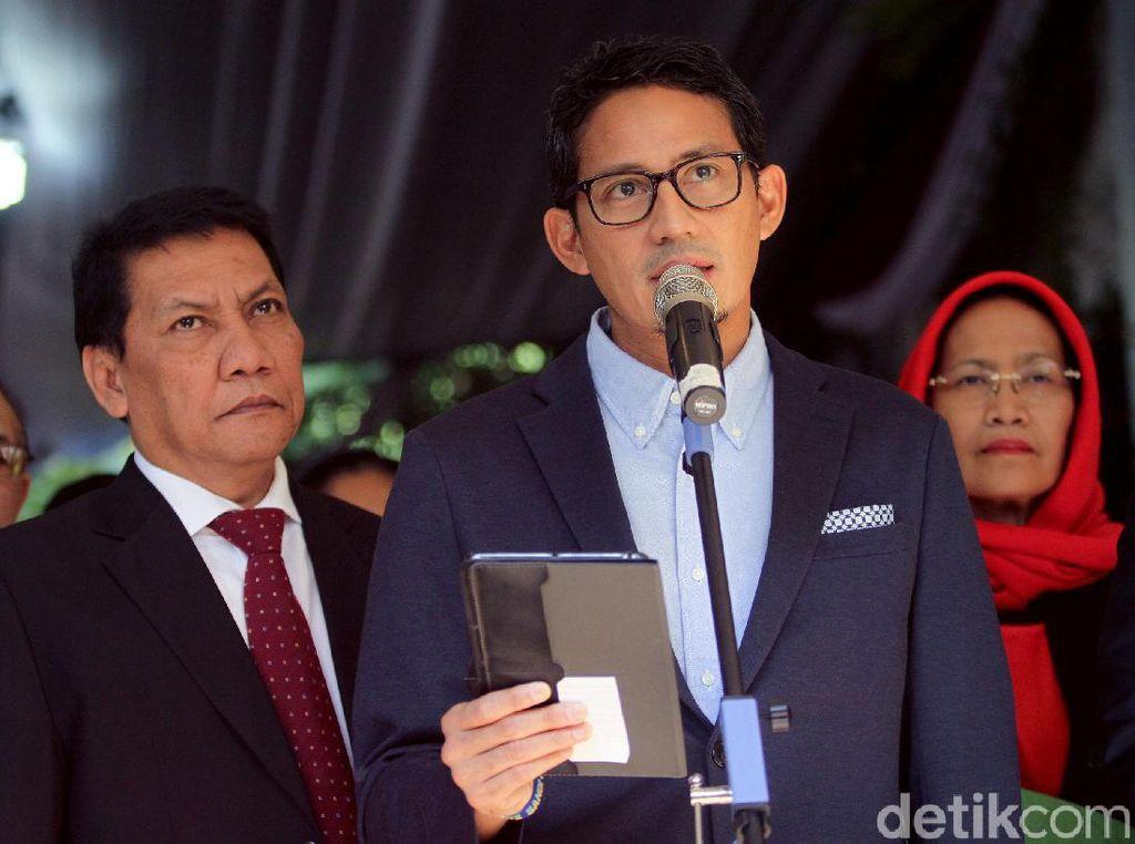 Gugat Hasil Pilpres ke MK, Sandiaga: 50 Persen TPS Provinsi Ada Anomali