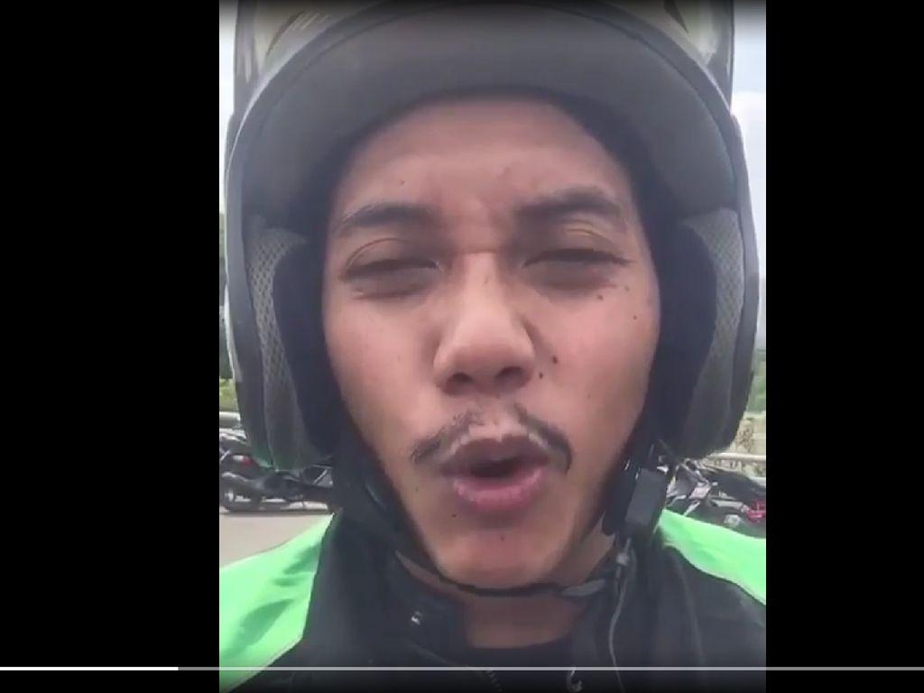 Polisi Tangkap Driver Ojol yang Ajak Lempar Kotoran ke Dalam Panser