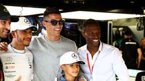 Saat Ronaldo dan Keluarganya Geruduk Paddock Mercedes di GP Monako
