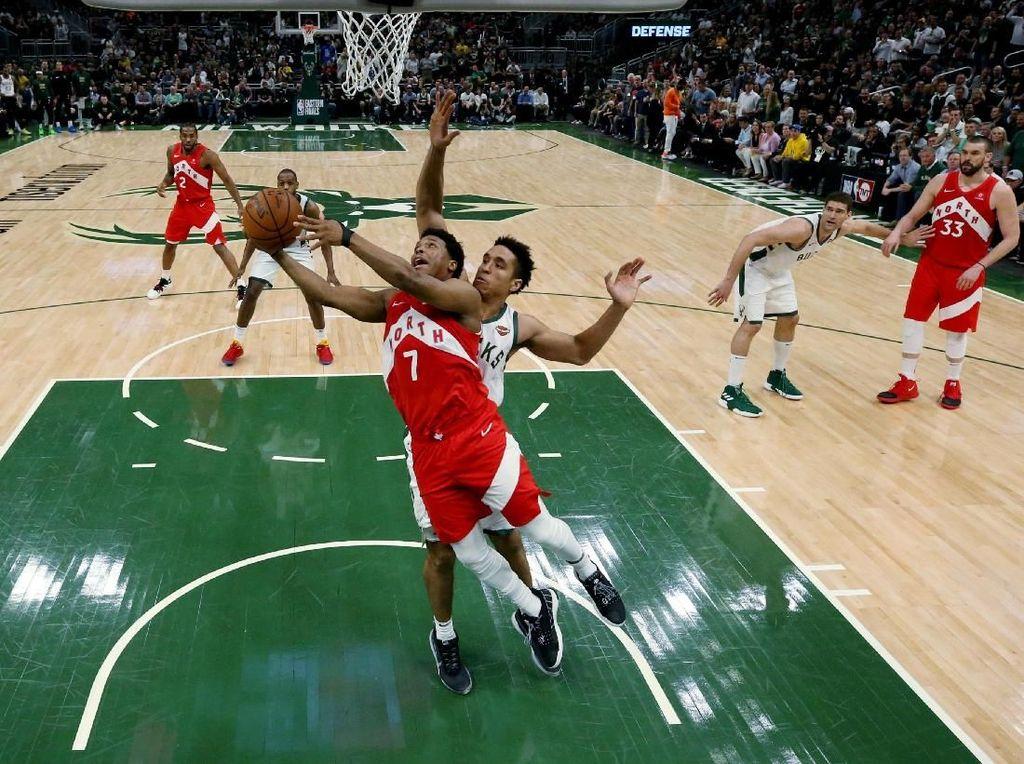 Menangi Gim Kelima, Raptors Berbalik Ungguli Bucks 3-2