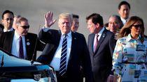 Trump Tiba di Jepang untuk Hadiri Pertemuan Sumo Bersama PM Abe
