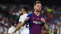Kekesalan Rakitic Saat Barcelona Dibekuk Valencia