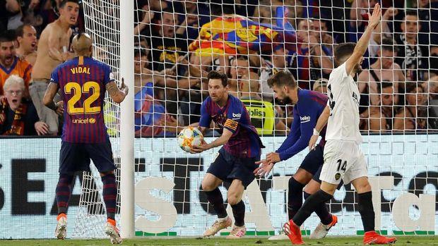 Lionel Messi hanya mampu mencetak satu gol di babak kedua.