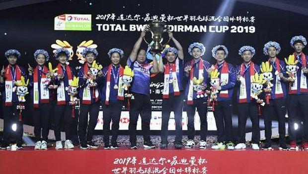 China juara Piala Sudirman 2019 dengan skuat muda.