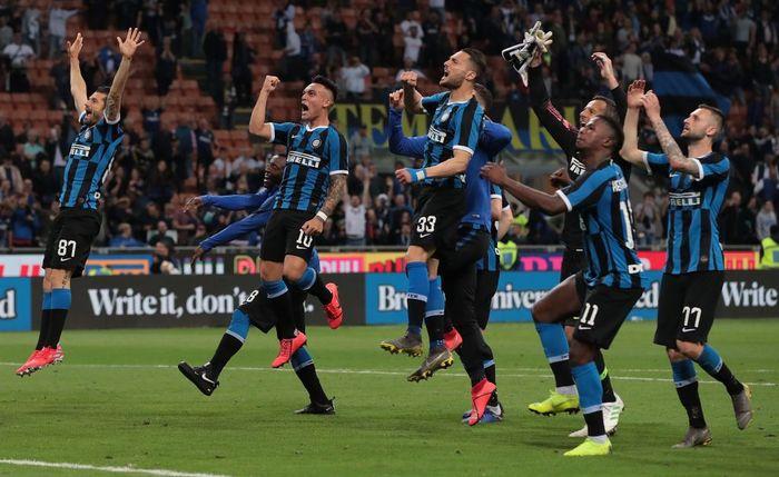 Inter Milan akhirnya lolos ke Liga Champions musim depan usai menundukkan Empoli dengan skor 2-1. Emilio Andreoli/Getty Images.