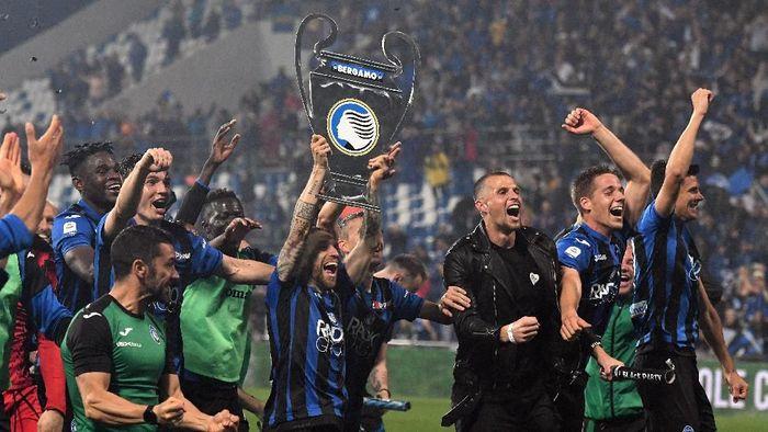 Jadi tim tertajam di Serie A musim ini dengan 77 gol, Atalanta finis empat besar (Alessandro Sabattini/Getty Images)