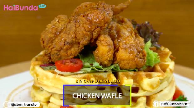Resep Sahur: Chicken Waffle, Kreasi Ayam Krispi nan Gurih