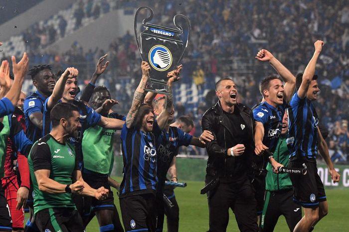 Atalanta sukses mengalahkan Sassuolo dengan skor 3-1 di Mapei Stadium, Senin (27/5/2019) dinihari WIB.