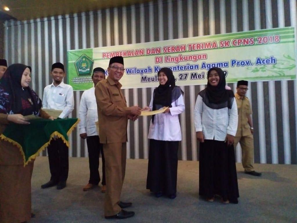 Terima SK, 1.159 CPNS Kemenag Aceh Diingatkan Tak Terlibat Paham Radikal