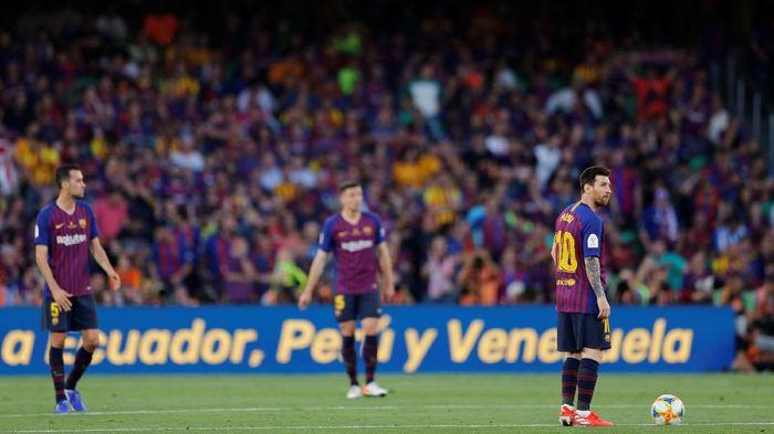 Barcelona menutup musim dengan sangat suram. (Foto: Marcelo Del Pozo/Reuters)