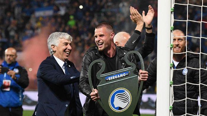 Gian Piero Gasperini yakin Atalanta bisa tampil oke di Liga Champions musim depan (Alessandro Sabattini/Getty Images)