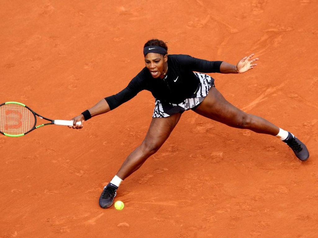 Duel Tiga Set, Serena ke Babak Kedua Prancis Terbuka