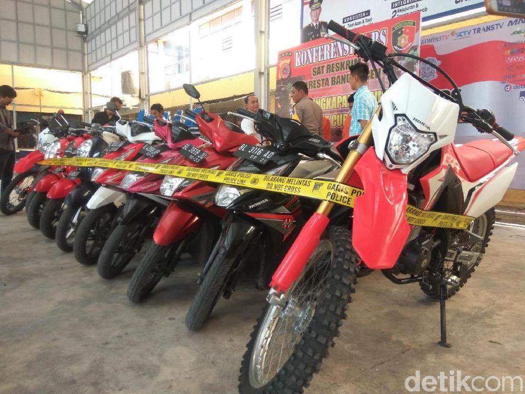 Bak di Dealer, 10 Motor Curian di Banda Aceh ini Masih Kinclong
