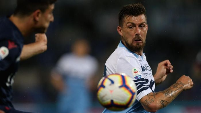 ROME, ITALY - MAY 20:  Francesco Acerbi of SS Lazio in actionduring the Serie A match between SS Lazio and Bologna FC at Stadio Olimpico on May 20, 2019 in Rome, Italy.  (Photo by Paolo Bruno/Getty Images)