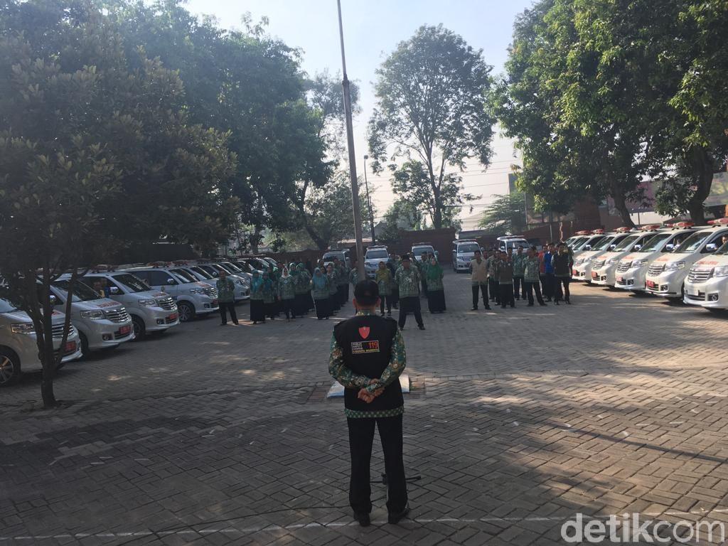270 Tenaga Medis dan 28 Ambulans Disebar di Jalur Mudik Mojokerto