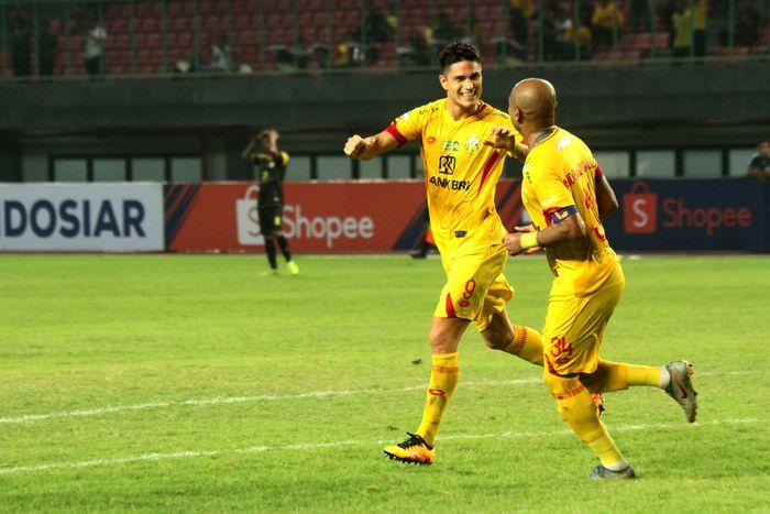 Bhayangkara FC mengalahkan Barito Putera 4-2 di lanjutan Liga 1 2019. (Foto: Risky Andrianto / ANTARA)